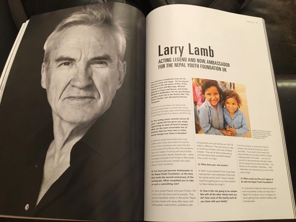 Actor Larry Lamb – Nepal Youth Foundation UK Ambassador