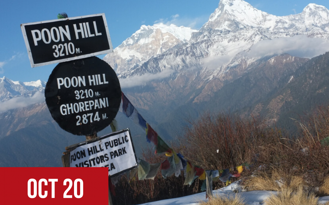 Trip to Nepal to visit our programmes & Trek Poon Hill  – October 2020