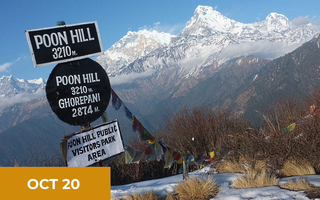 Trip to visit our programmes & Trek Poon Hill